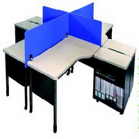 YZ系列钢木职员桌