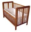 实木折叠婴儿床