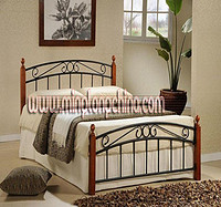 steel wood bed
