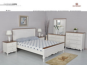 BA075白色床组 成套卧房太阳城国际娱乐