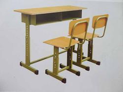 双人可调课桌椅