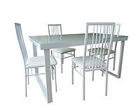 玻璃餐桌椅1+4