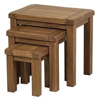 永益 仿古实木橡木三套凳RUS19