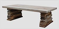 老榆木仿古大桌子 松木仿古碳化桌椅