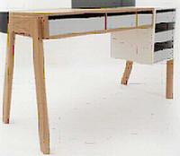 组合胡桃书桌