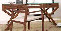 原木色折叠书桌
