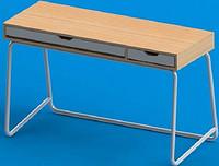 简约钢木胡桃色书桌