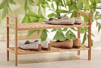 胡桃木 实木 可摞叠 双层鞋架