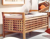 胡桃木 实木 双人坐凳 换鞋凳 收纳箱
