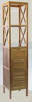 胡桃木 实木 浴室 三层 一门一抽 高架橱柜 高立柜