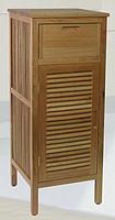 胡桃木 实木 浴室  一门一抽 立柜 边柜
