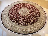 160L手工打结丝毛波斯圆形地毯