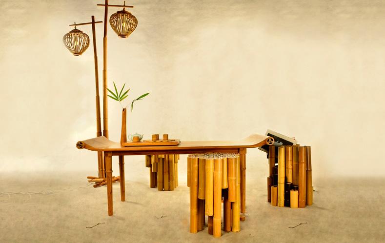竹子装修餐饮效果图