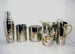 金属质感镶花餐具