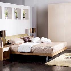 曲美家具 卧室家具组合套装 1.8双人床+床头柜+衣柜