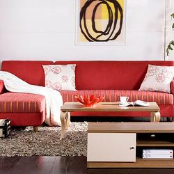 曲美家具 全套家具 客厅家具套装 沙发+长茶几+电视柜