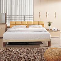 曲美家具 简约现代皮床 卧室舒适大婚床