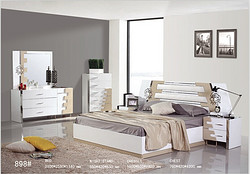 时尚卧室家具1.8米六门套间