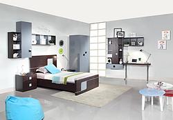 欧式儿童卧室家具套间