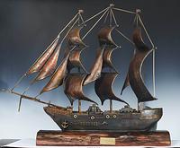 铜雕--一帆风顺