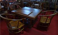 鲁木匠 实木古典组合茶桌