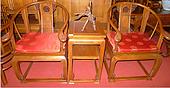鲁木匠  实木仿古古典组合椅子