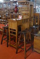 鲁木匠  实木仿古酒柜吧台