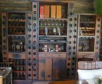 鲁木匠  实木榆木仿古古典酒柜