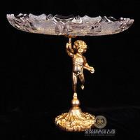 西洋古董水晶盘