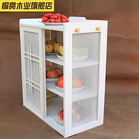 放碗柜现代简约宜家象牙白欧式餐边柜厨房家具简易厨房柜碗橱