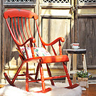 欧式田园实木做旧摇椅懒人休闲椅美式乡村阳台户外躺椅椅子