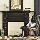 欧式壁炉架子黑色实木别墅壁炉老上海复古做旧雕花壁炉