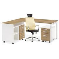 厂家直销 优质经理桌大桌 有副台抽屉柜 时尚简约风