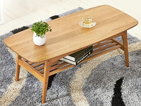 2-tier with wooden top or stained MDF top  solid oak wooden living room coffee table