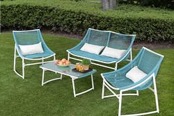 deluxe rattan outdoor garden wicker patio sofa furniture 5 pcs 4 seater black brown set