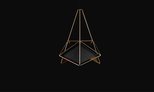 金属几何吊灯,打造现代简约风