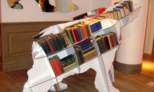 小编今天为爱小动物的同学们推荐一款脑洞大开的书架