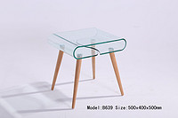 Hot bent glass coffee table B639