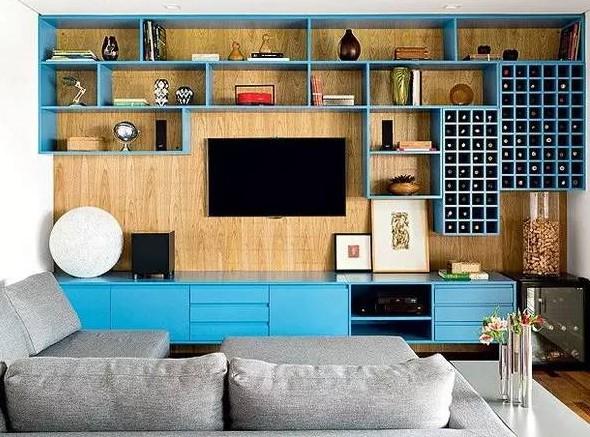 你家电视机后面还是空白?这些设计给你灵感!