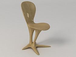 定制水转印玻璃钢艺术吧台椅