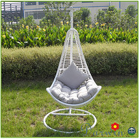 户外花园阳台PE藤制吊椅吊篮