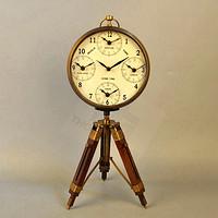 进口怀旧钟表美式黄铜座钟高档酒店家居装饰摆件钟
