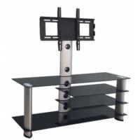 Tempered glass flat screen corner tv stands design DG007
