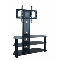 Black corner tv stands for small flat screen tvs uk
