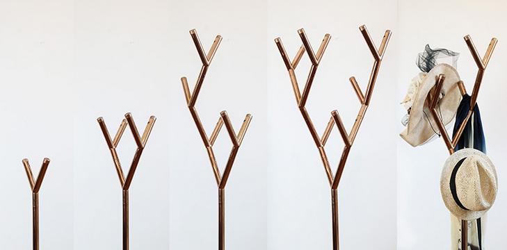 有着树木结构的创意衣架y-rack