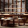倚至尚 新中式茶几 电视柜组合多功能实木家具