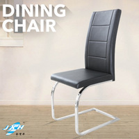 Italy style black PU dining tables and chairs