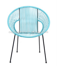 New design outdoor rustproof acapulco bar chairs