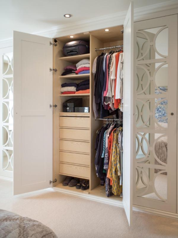 免漆板衣柜内部结构图片