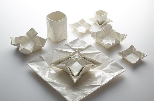 折纸艺术成为时尚    陶瓷餐具拥有全新形态